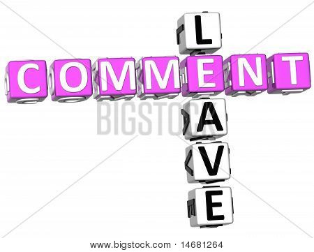 Leave Comment Crossword