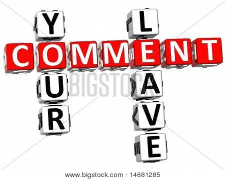 Leave Your Comment Crossword