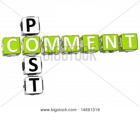 Post Comment Crossword