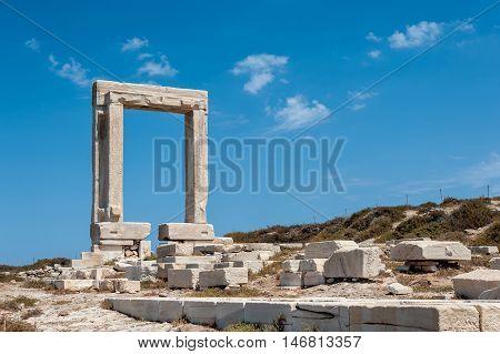 Portara of Naxos famous landmark of greece