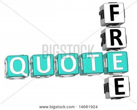 Free Quote Crossword