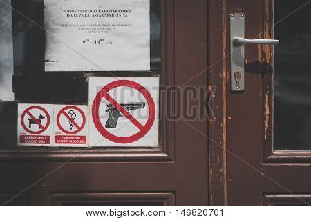 Detail Of A Door In Rijeka, Croatia