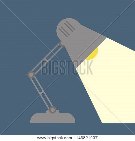 Table Lamp Icon, Flat Design Style.