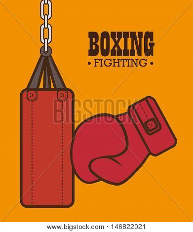 boxing gloves punch isolated vector illustration eps 10