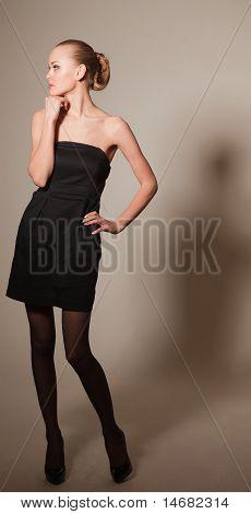 Posing Elegant Young Girl