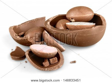 Photo of Black and white chocolate Easter egg