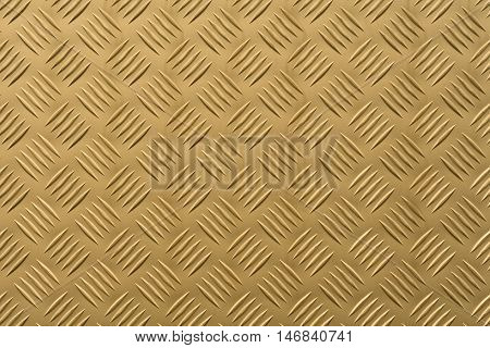 Aluminum plate with diamond shaped structure in gold color
