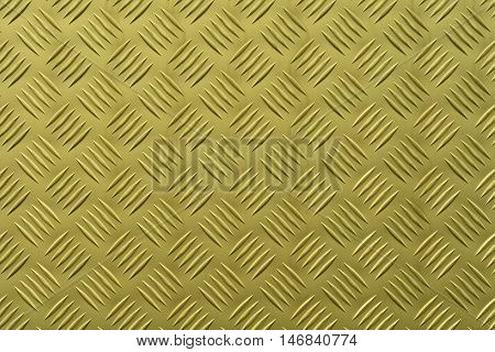 Aluminum plate with diamond shaped structure in yellow color
