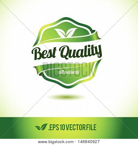 Localy grown badge label seal stamp logo text design green leaf template vector eps