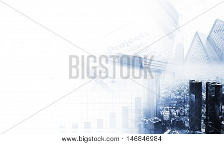 abstract world business technology background, business concept