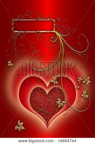 red abstract valentines background