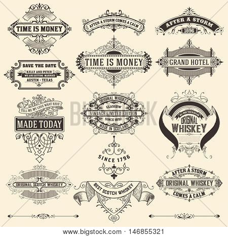 Mega pack of banners and labels