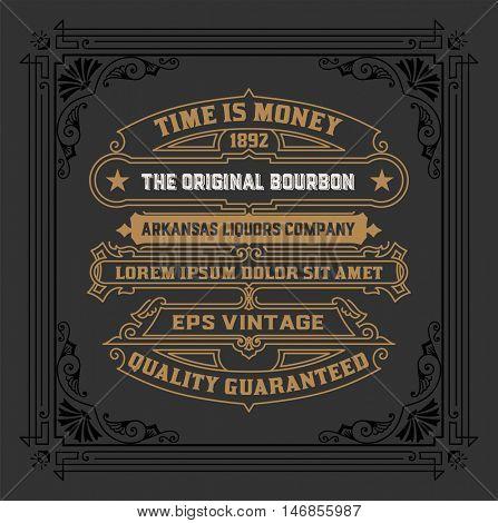 Vintage Whiskey Label