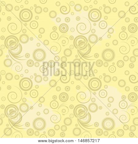Seamless curl background. Pattern with curls. Vector illustration.