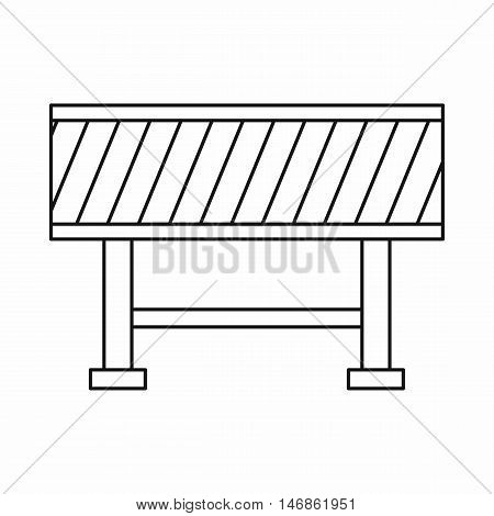 Traffic barrier icon in outline style on a white background vector illustration