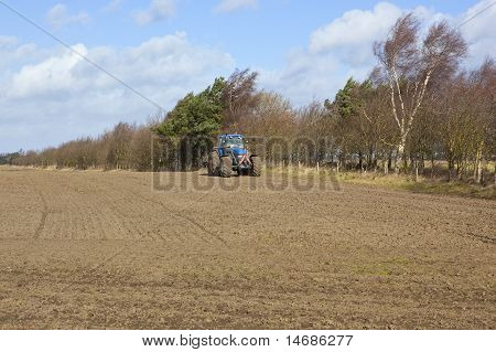 Farmland With Tractor