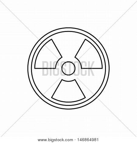 Radioactive sign icon in outline style on a white background vector illustration