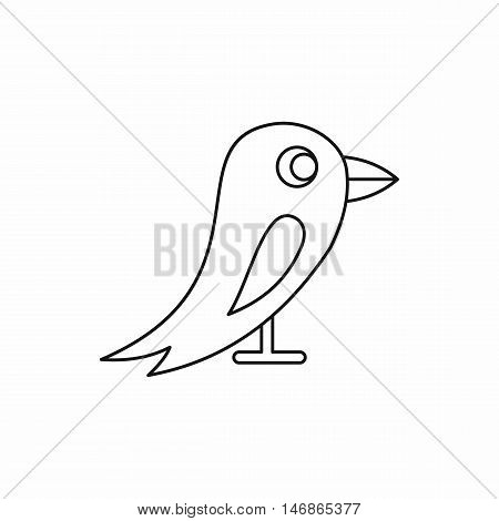 Bird icon in outline style on a white background vector illustration