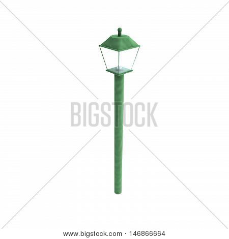 Street Lamp In Close Up