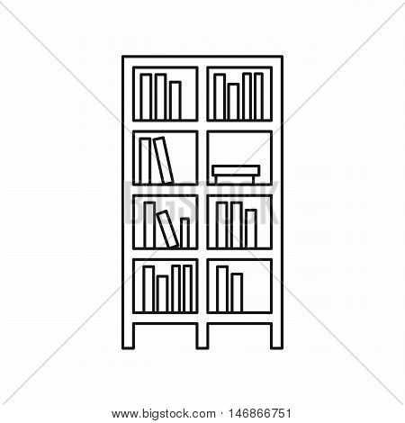 Bookcase icon in outline style on a white background vector illustration