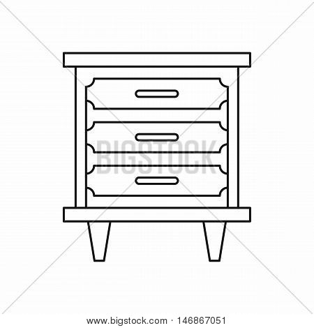 Nightstand icon in outline style on a white background vector illustration