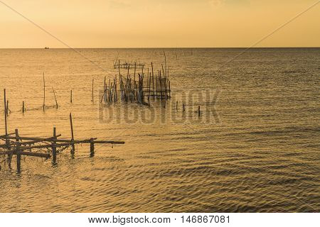 Fishing Scoop At Seascape In Which An Expanse Of Water.