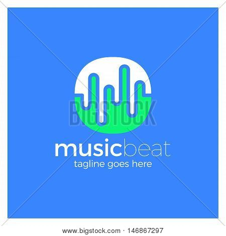 Logo Template Sound Wave, Dj, Audio System, Store. Brand, Branding, Company, Corporate, Identity, Lo
