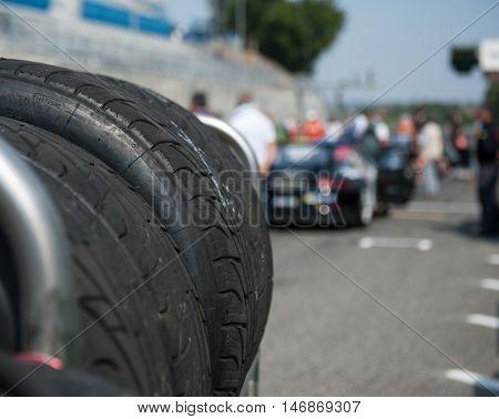 Wet Racing Tire Set Motor Sport