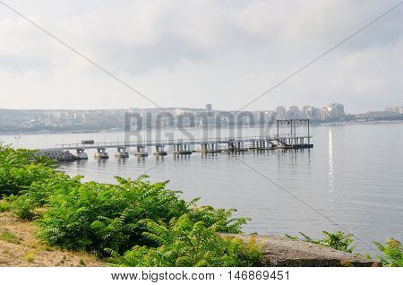 View from the embankment Gelendzhik Bay. Gelendzhik Krasnodar Krai Russia.