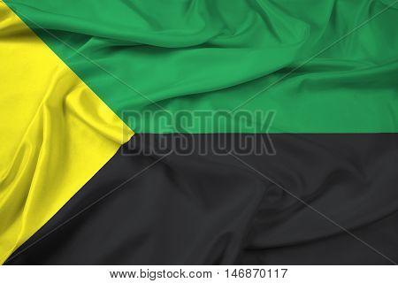 Waving Flag Of Puerto Francisco De Orellana, Ecuador
