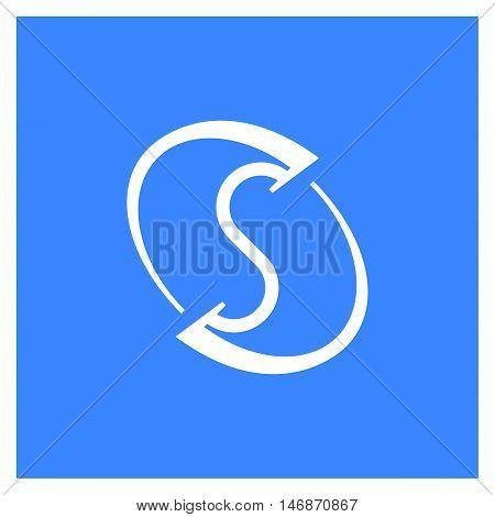 Simple Minimalistic Logotype. Letter S Logo In Orbital. Elegant Space Logos Rainbow Gradient