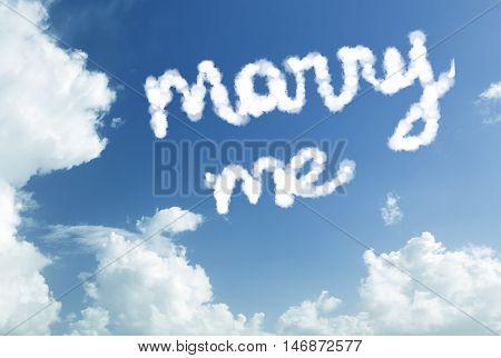 Marry Me written in the sky