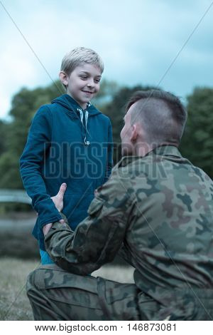 So Proud Of His Father Soldier