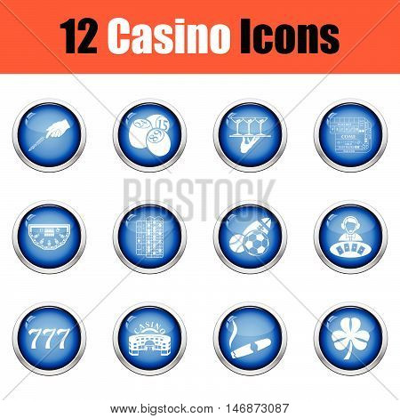 Casino Icon Set.