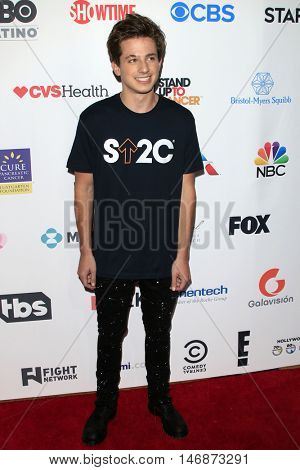 LOS ANGELES - SEP 9:  Charlie Puth at the 5th Biennial Stand Up To Cancer at the Walt Disney Concert Hall on September 9, 2016 in Los Angeles, CA