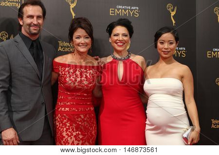 LOS ANGELES - SEP 11: Kevin Sizemore, Lisa Waltz, Kathleen Gati, Michelle Ang at the 2016 Primetime Creative Emmy Awards - Arrivals at the Microsoft Theater on September 11, 2016 in Los Angeles, CA