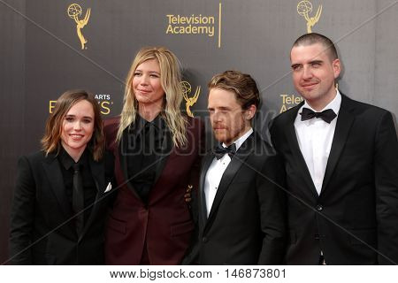 LOS ANGELES - SEP 11:  Ellen Page, Guest, Ian Daniel at the 2016 Primetime Creative Emmy Awards - Day 2 - Arrivals at the Microsoft Theater on September 11, 2016 in Los Angeles, CA