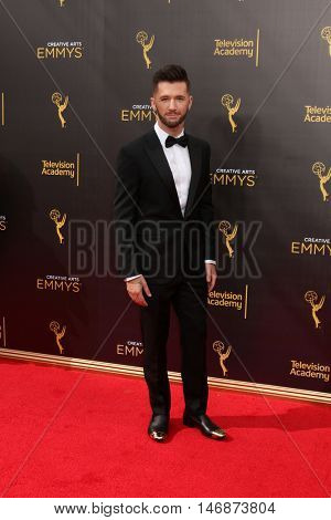 LOS ANGELES - SEP 11:  Travis Wall at the 2016 Primetime Creative Emmy Awards - Day 2 - Arrivals at the Microsoft Theater on September 11, 2016 in Los Angeles, CA