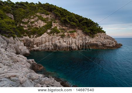 Rocky coast of the Adriatic sea