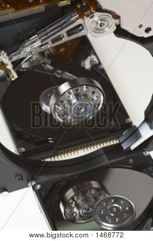 Hard Disk On White Background
