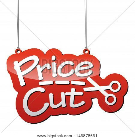 This is red vector background price cut