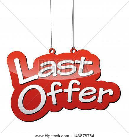 This is red vector background last offer