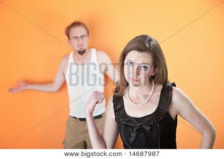 Upset Girlfriend Or Wife