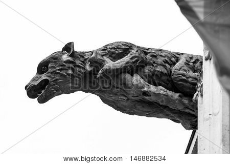 Beautiful Animal Gargoyle On Medieval Church