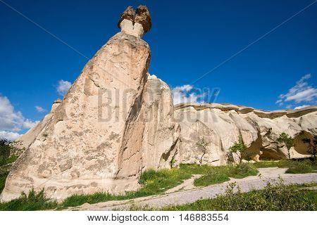 Fantastic landscape of Cappadocia in Turkey rock formations