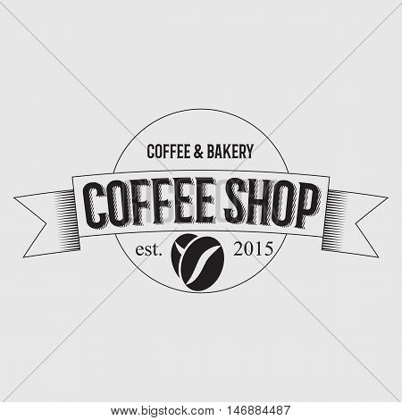 Coffee Shop Logo Design Element in Vintage Style for Logotype, Label, Badge and other design. Cup retro vector illustration