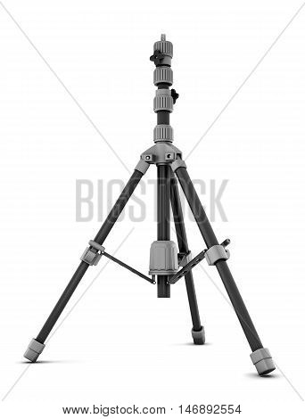 Photo tripod isolated on white background. 3d rendering.