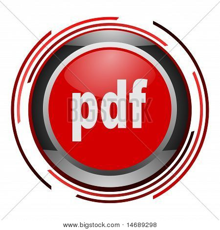 pdf document glossy icon