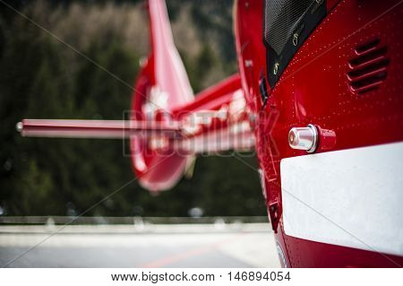 a rescue helicopter in the mountains called after fatal accident