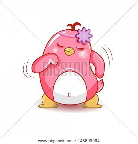 dancing penguin. Various Penguins Cartoon Vector Illustration. Stickers for the application app.